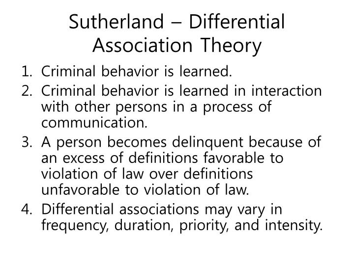 criminology theories differential association and strain theory Delinquent gangs (1960) (integrated elements of strain and subcultural theories in their explanation of delinquency causation) burgess & akers, a differential association- reinforcement theory of criminal behavior, 14 soc probs.