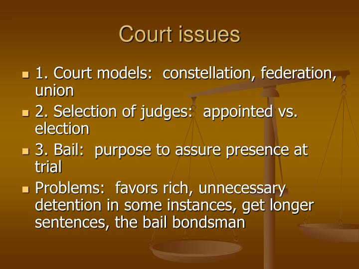 Court issues