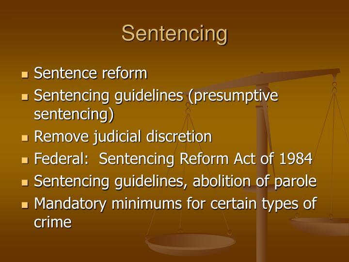 Sentencing