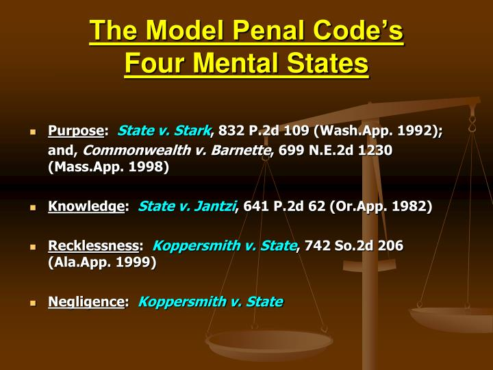 The Model Penal Code's