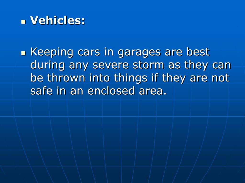 Vehicles: