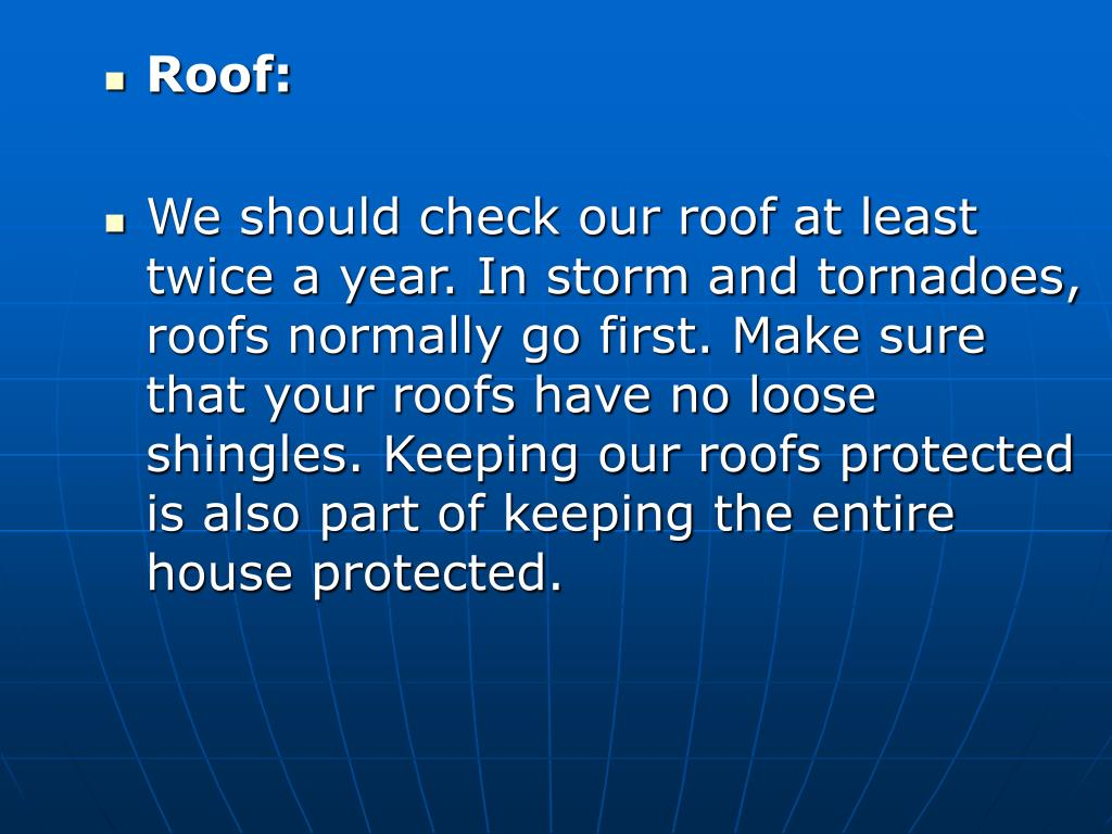 Roof: