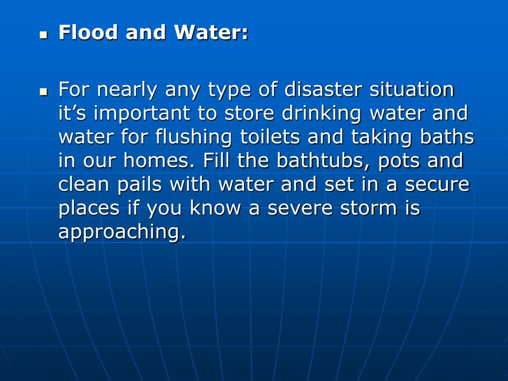 Flood and Water: