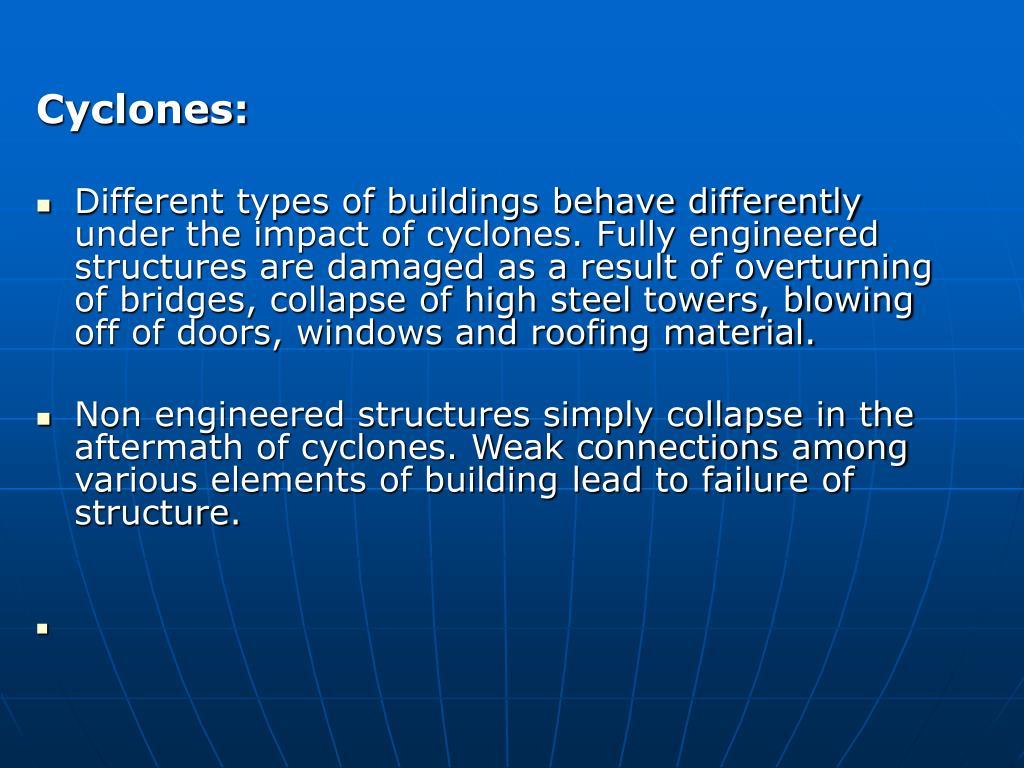 Cyclones: