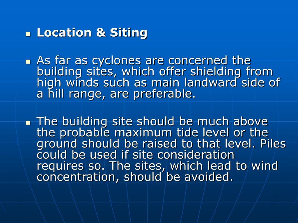 Location & Siting