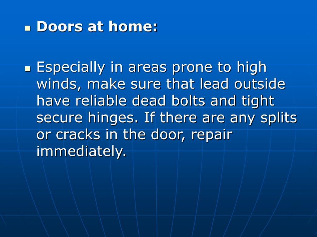 Doors at home: