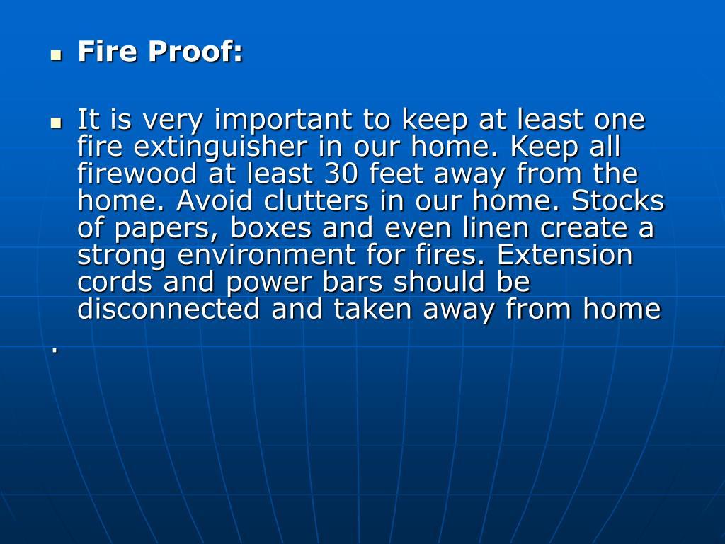Fire Proof: