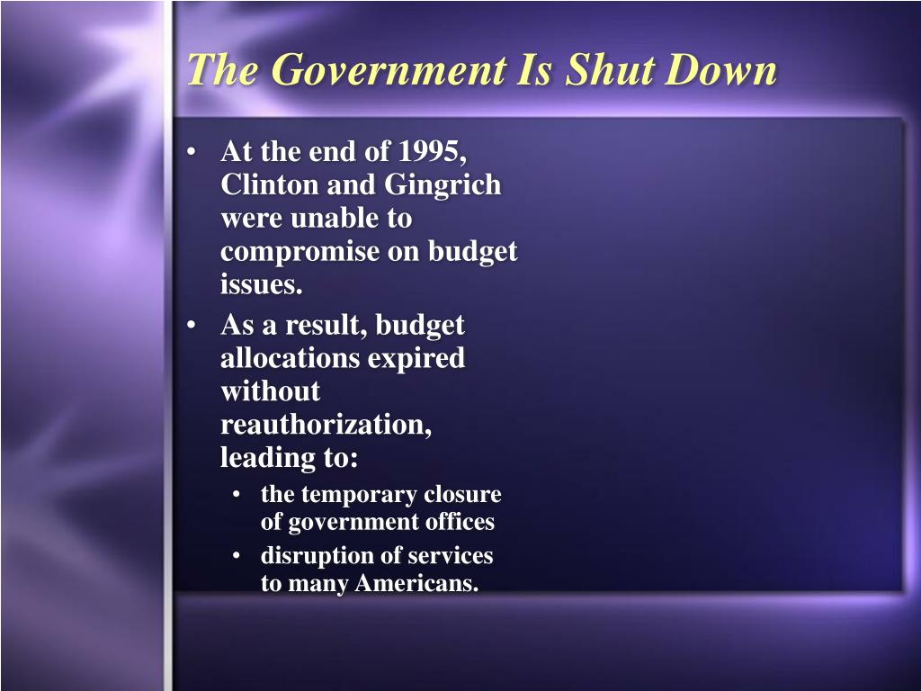 The Government Is Shut Down