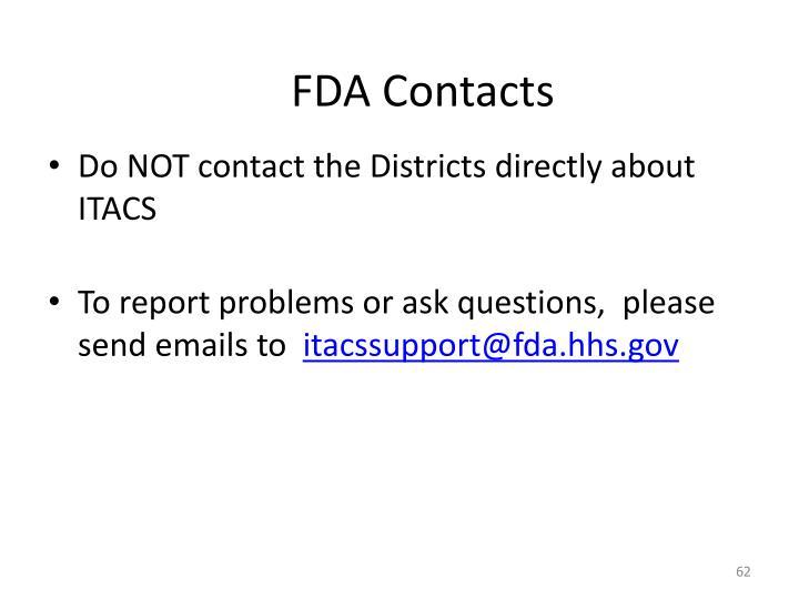 FDA Contacts