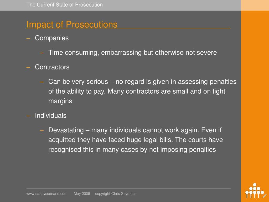 Impact of Prosecutions