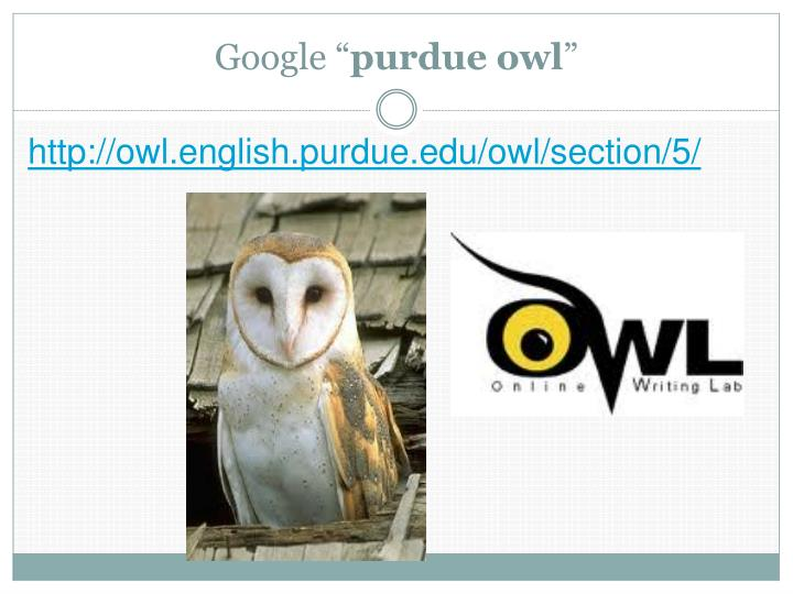 Purdue OWL - The Writing Center at MSU