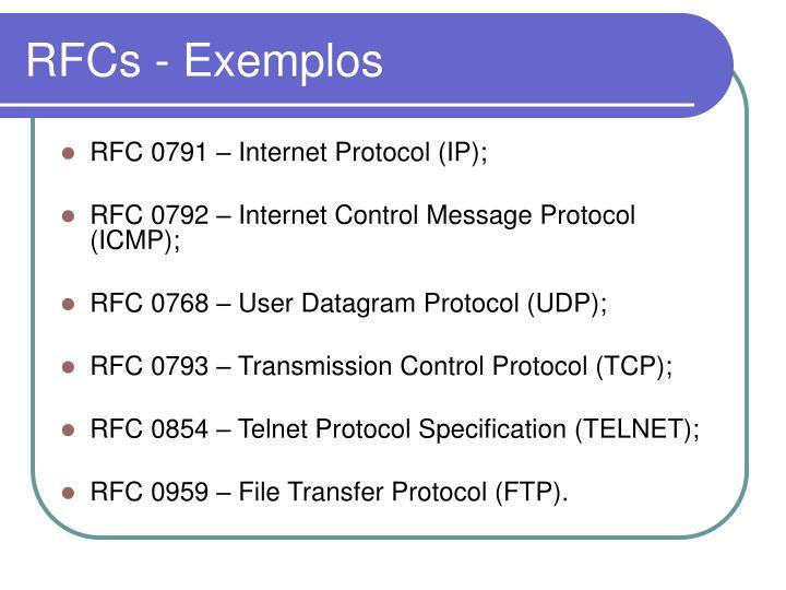 RFCs - Exemplos