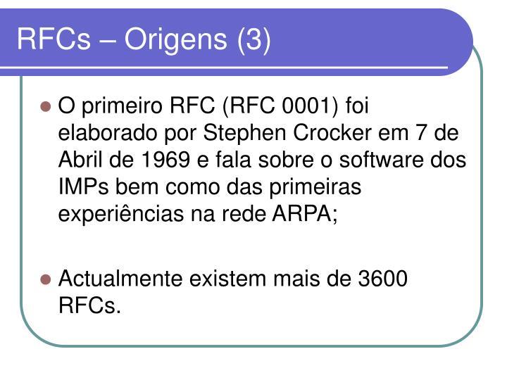 RFCs – Origens (3)