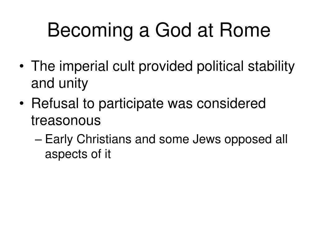 Becoming a God at Rome