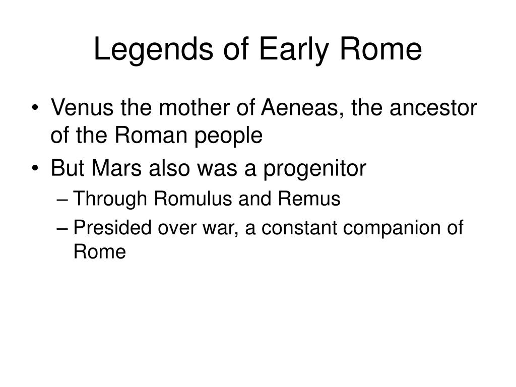 Legends of Early Rome
