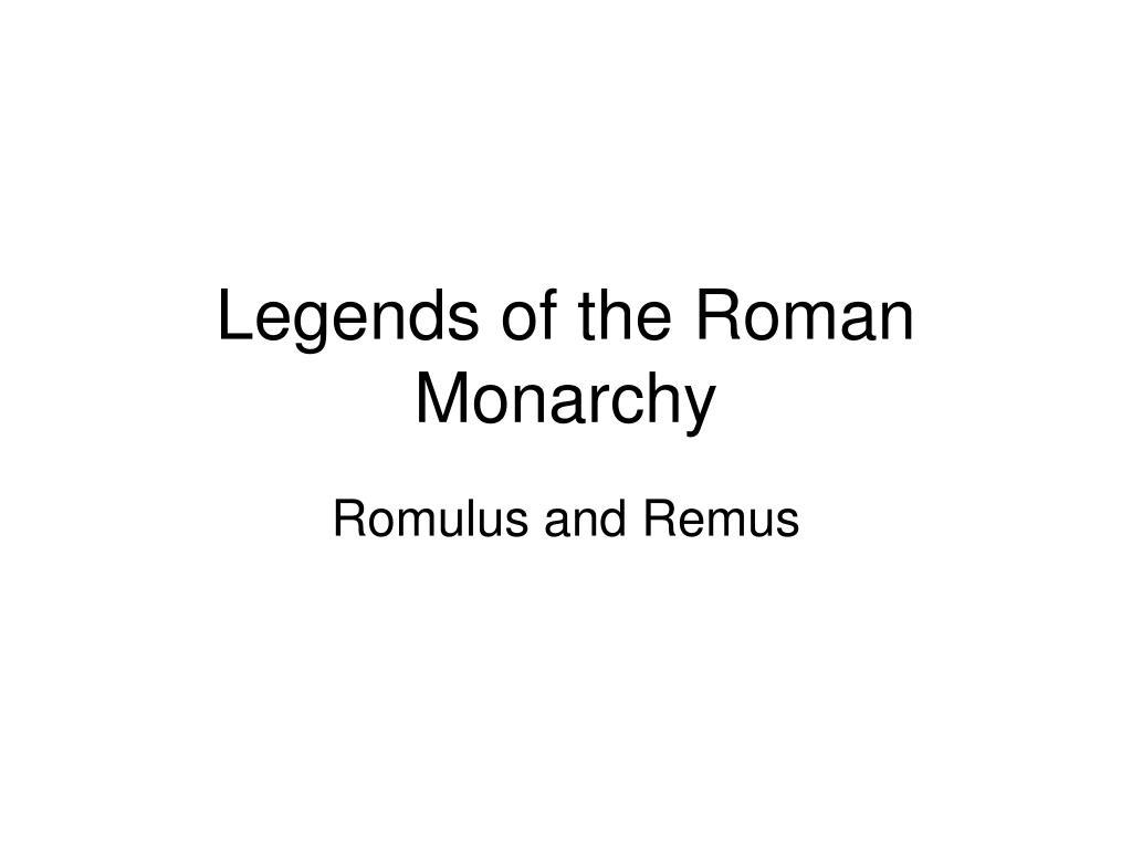 Legends of the Roman Monarchy