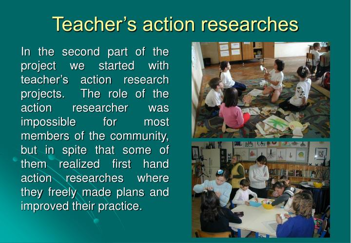 Teacher's action researches