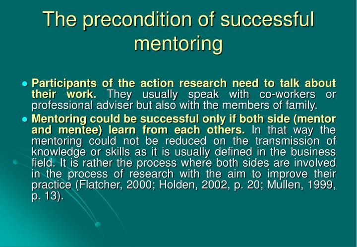 The precondition of successful mentoring
