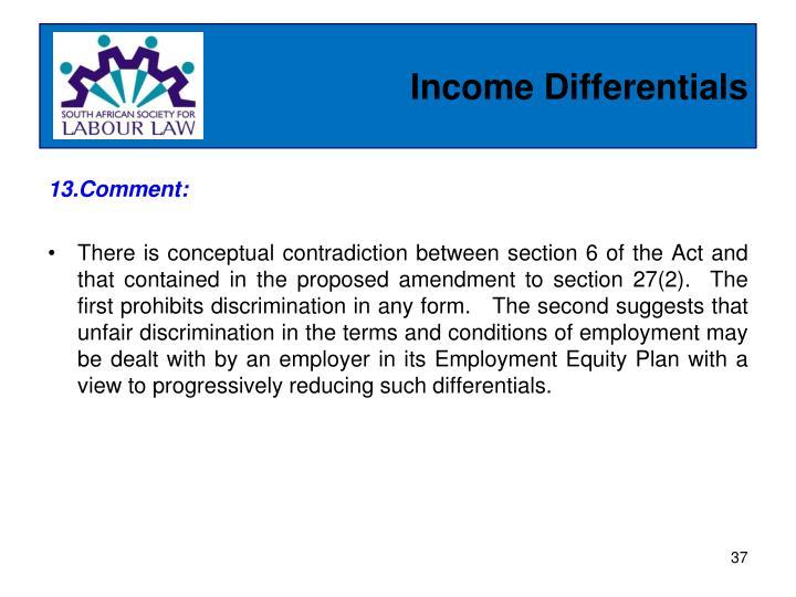 Income Differentials