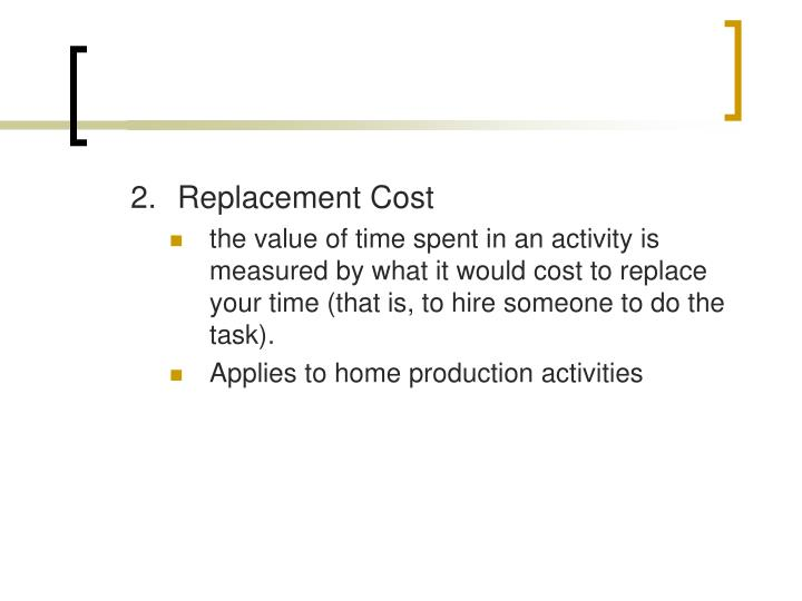 2.Replacement Cost
