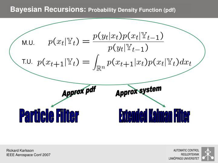 Bayesian Recursions: