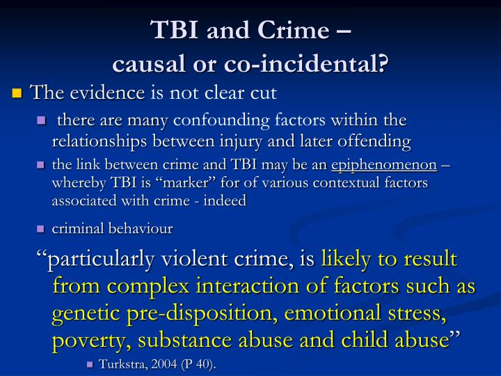 TBI and Crime –