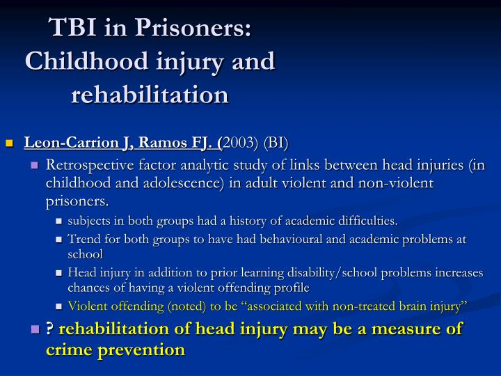 TBI in Prisoners: