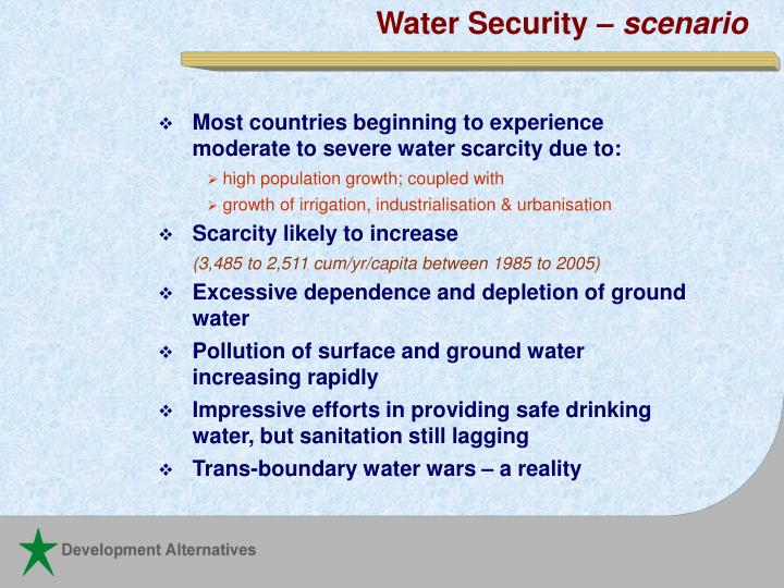 Water Security –