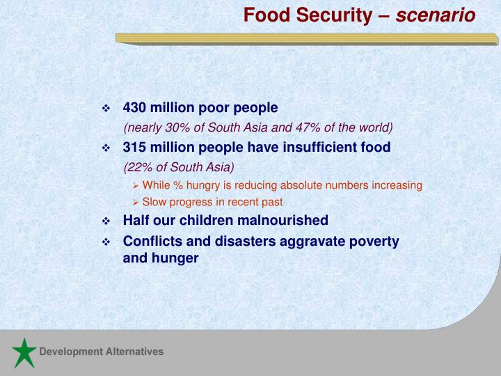 Food Security –