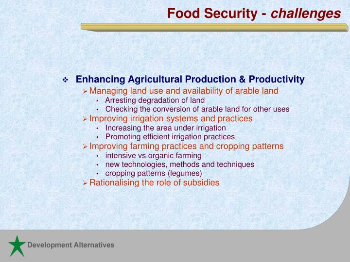 Food Security -