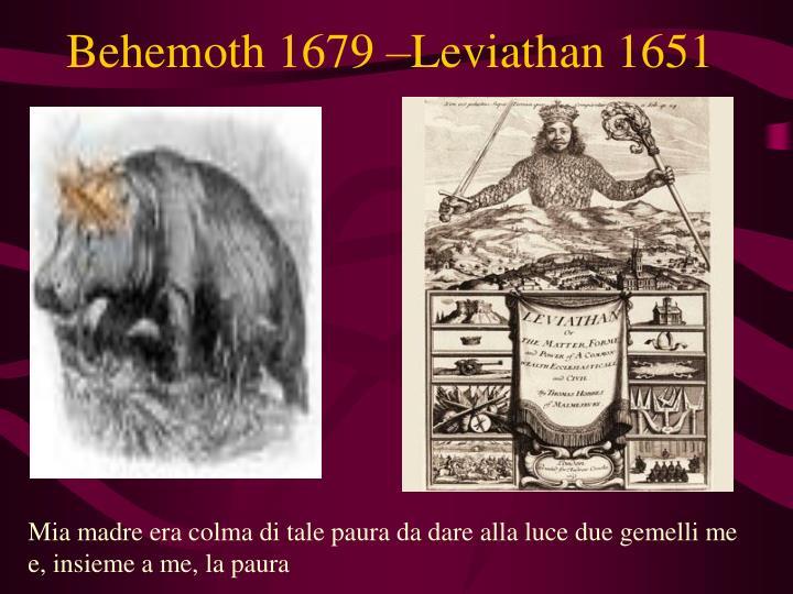 Behemoth 1679 –Leviathan 1651