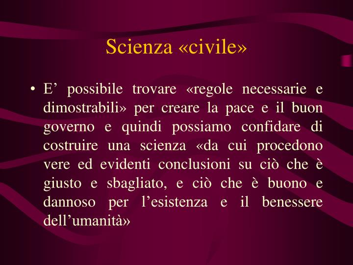 Scienza «civile»