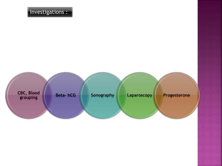 Investigations :