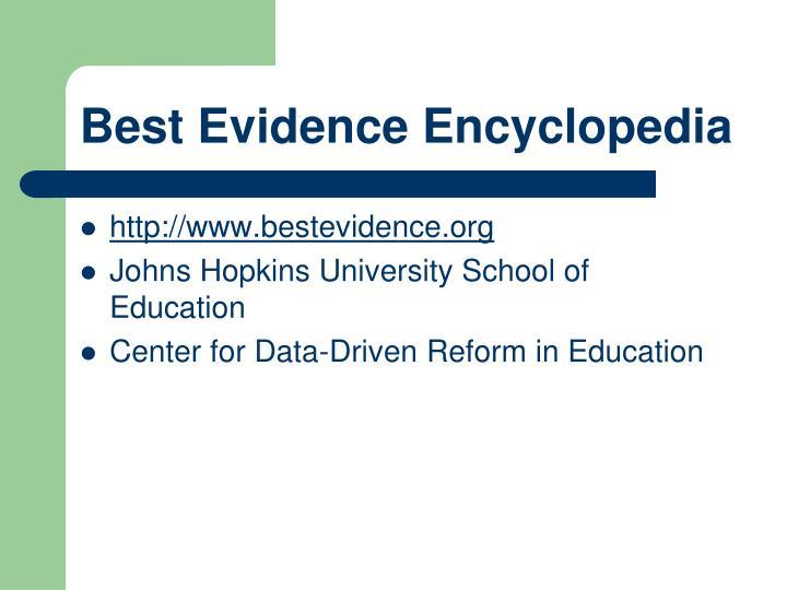 Best Evidence Encyclopedia