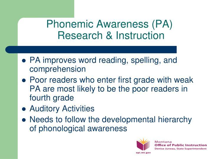 Phonemic Awareness (PA)