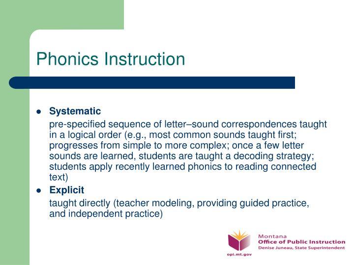 Phonics Instruction
