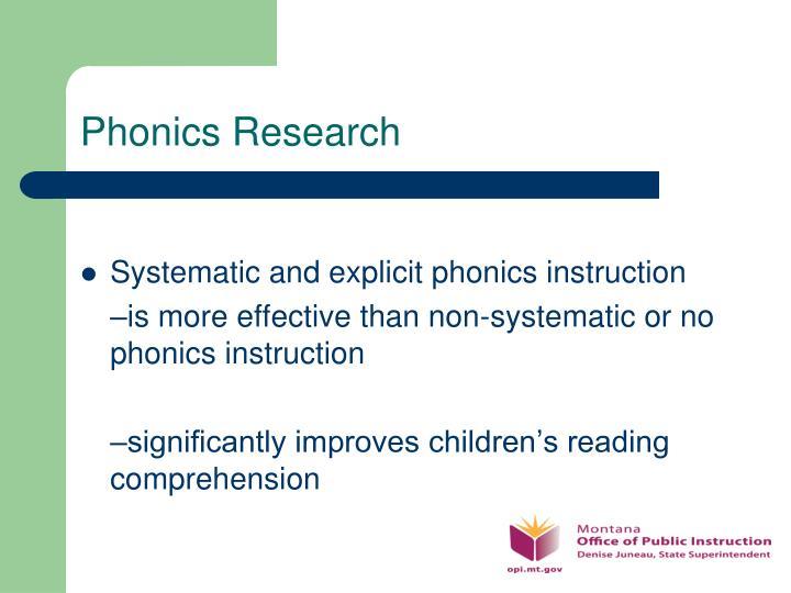 Phonics Research