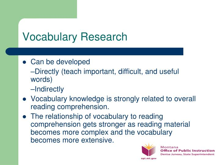 Vocabulary Research