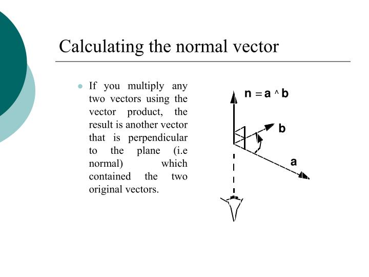 Calculating the normal vector
