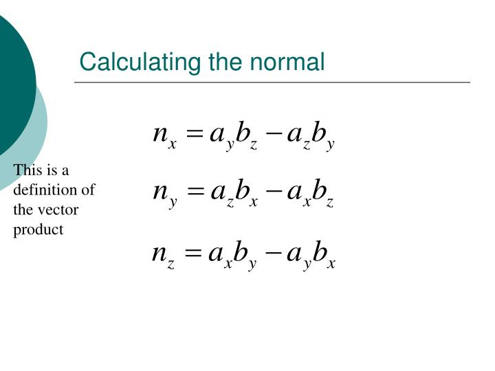 Calculating the normal