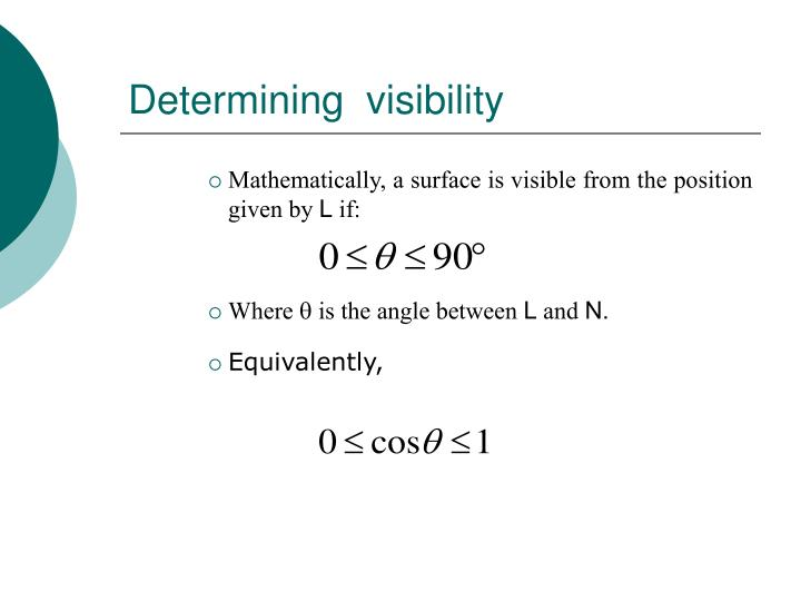 Determining  visibility