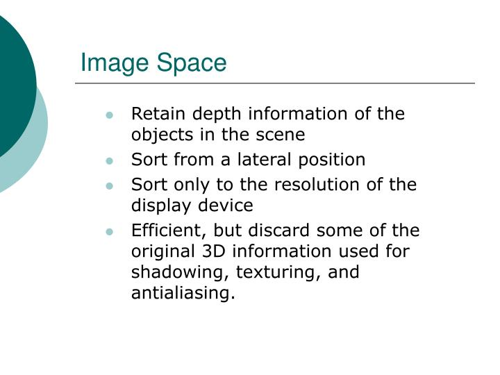 Image Space