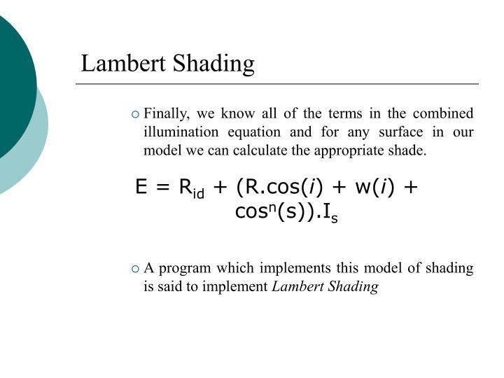 Lambert Shading
