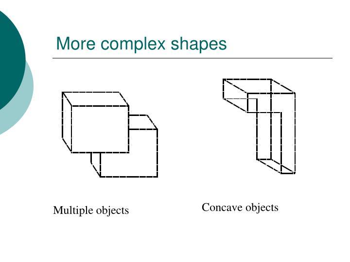 More complex shapes