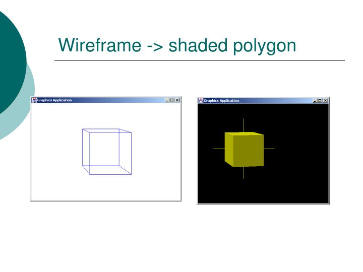 Wireframe -> shaded polygon