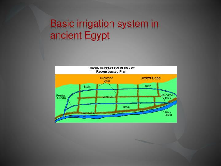 Basic irrigation system in ancient Egypt
