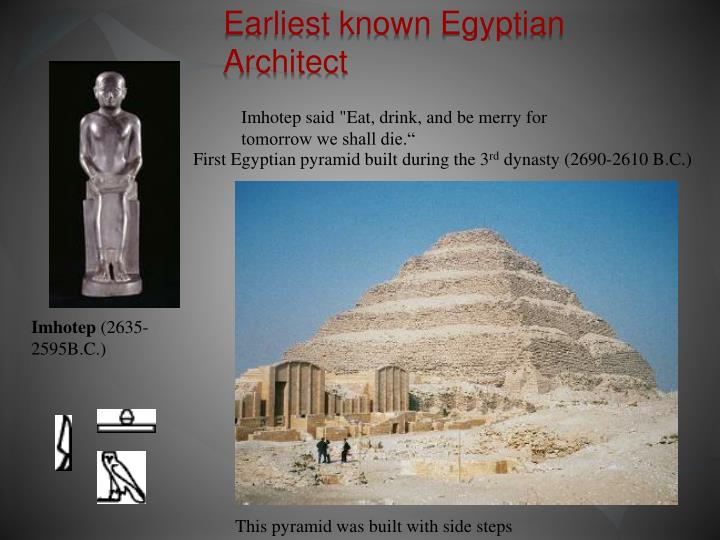 Earliest known egyptian architect