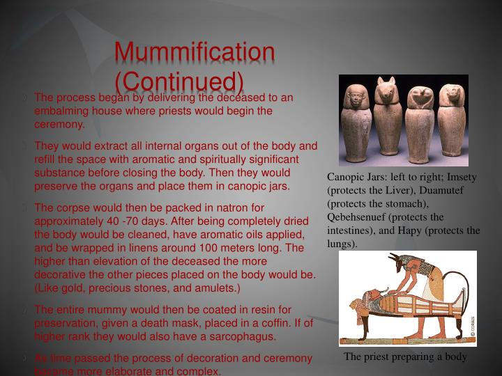 Mummification (Continued)