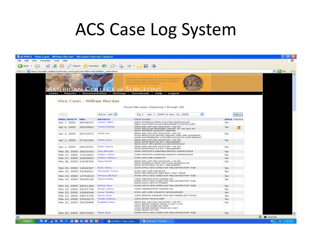 ACS Case Log System