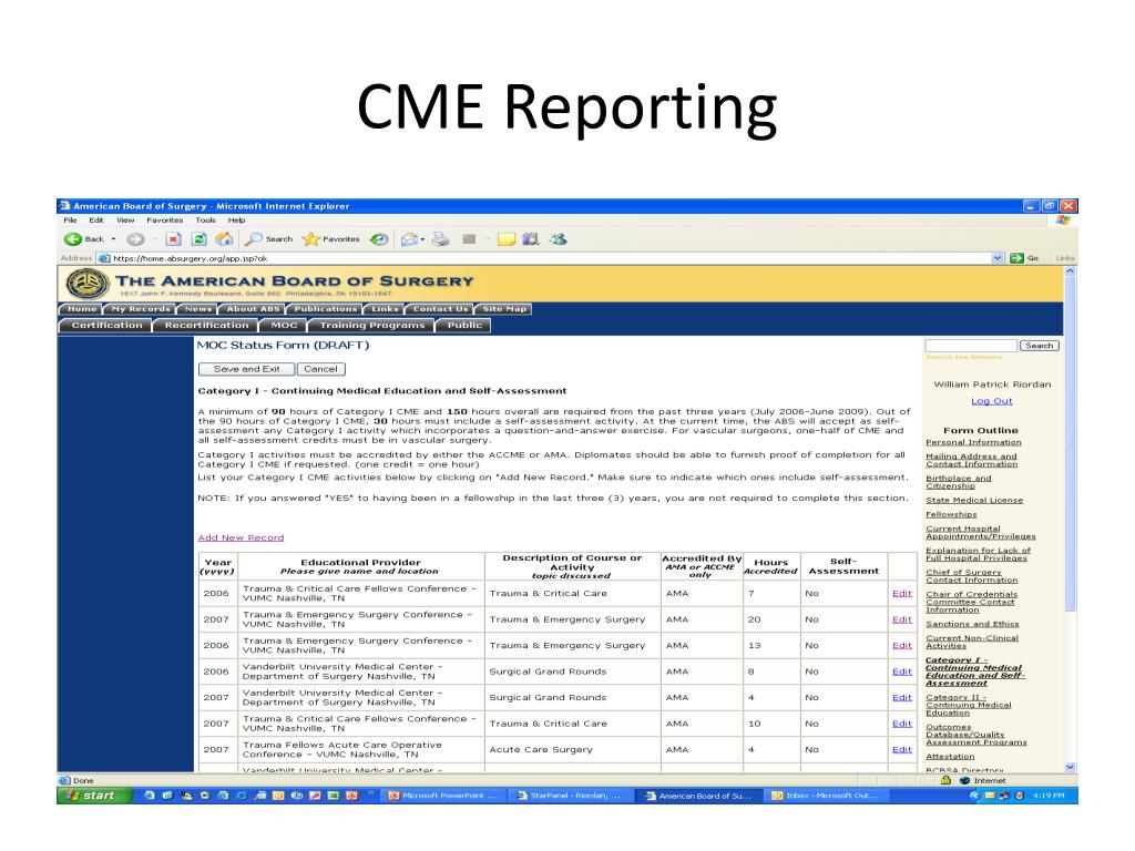 CME Reporting